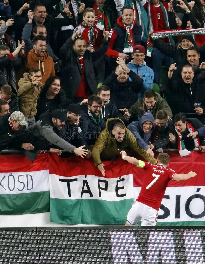 Ungern vs Internationell vänlig fotbollsmatch för Kroatien royaltyfri foto