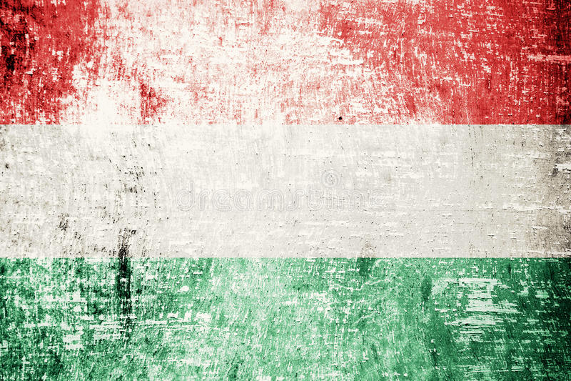 Ungernflagga royaltyfri fotografi