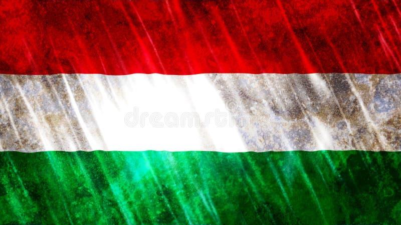 Ungernflagga royaltyfri bild