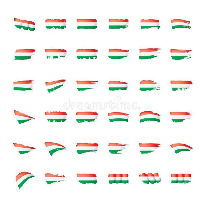 Ungernflagga, vektorillustration på en vit bakgrund vektor illustrationer