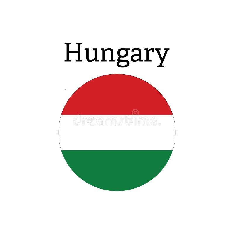 Ungernflaggasymbol royaltyfri illustrationer