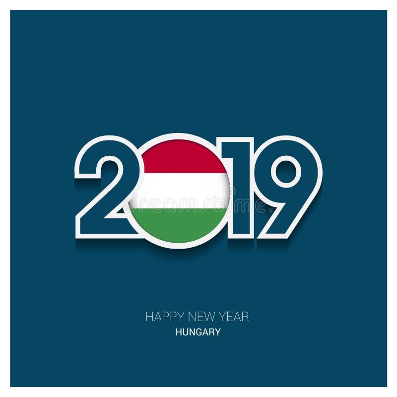 2019 Ungerntypografi, bakgrund för lyckligt nytt år stock illustrationer