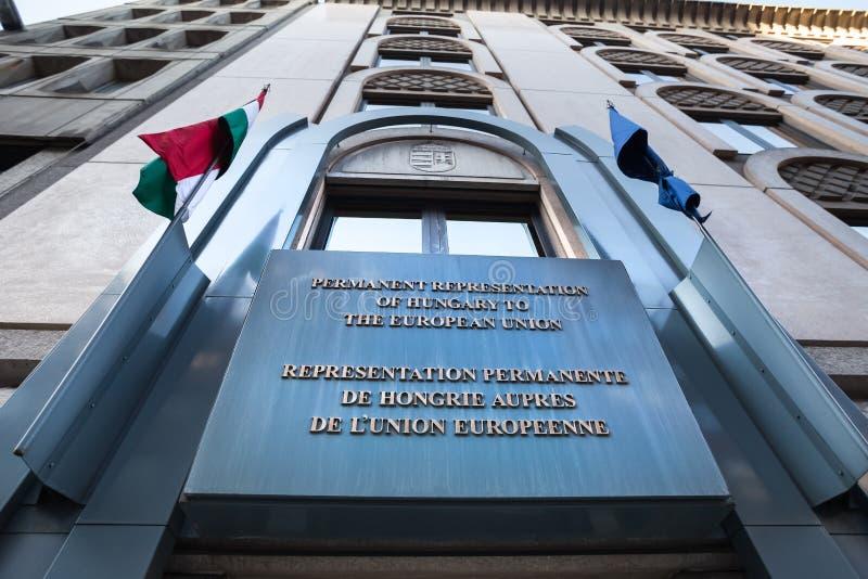 Ungersk ambassad i brussels Belgien royaltyfri foto