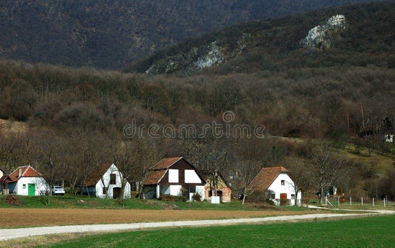 Ungersk lantgård i bergen royaltyfria foton