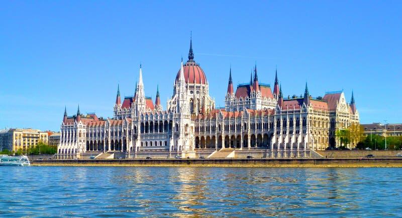 Ungersk parlament royaltyfri foto