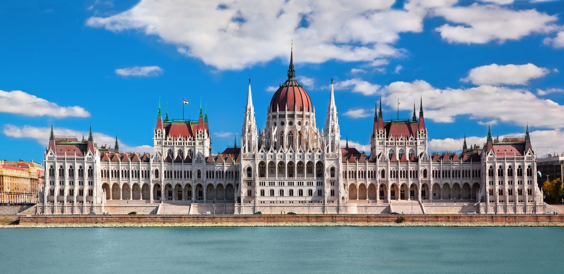 Ungersk parlament i Budapest, Ungern arkivfoton