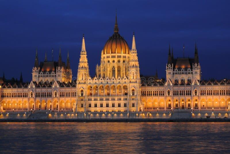 Ungersk parlamentbyggnad royaltyfri bild