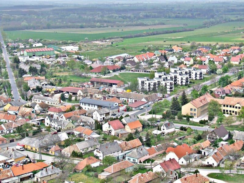 Ungerskt landskap på SÃ-¼ megohm royaltyfria foton