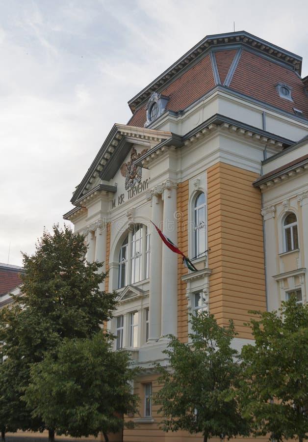 Ungerskt pedagogiskt institut i Berehove, Ukraina fotografering för bildbyråer