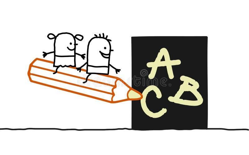 ungeskola vektor illustrationer