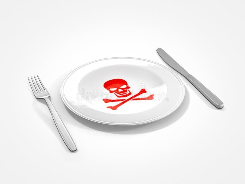 Ungesundes Lebensmittel vektor abbildung