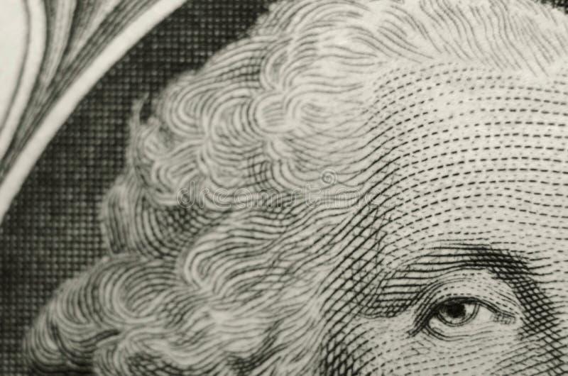 Ungewöhnliche Zusammensetzung von Präsidenten George Washington vom Gegenstücck des amerikanischen Dollarscheins lizenzfreies stockfoto