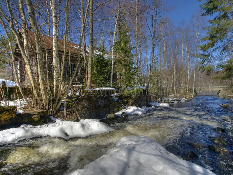 Download Ungezwungenheit watermill stockfoto. Bild von haus, schnell - 9090392