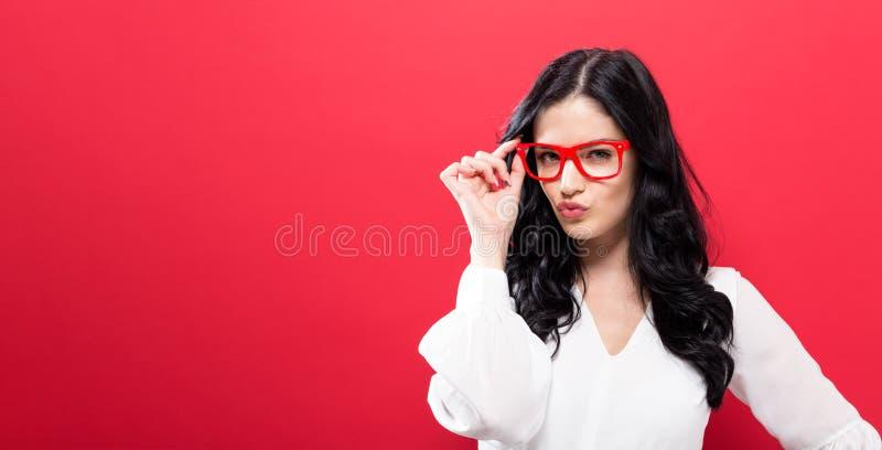Unglückliche junge Frau stockfotografie