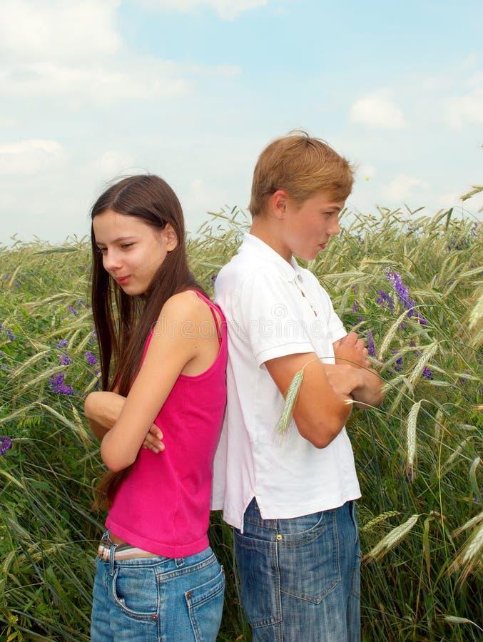 Unglückliche Paare lizenzfreies stockfoto