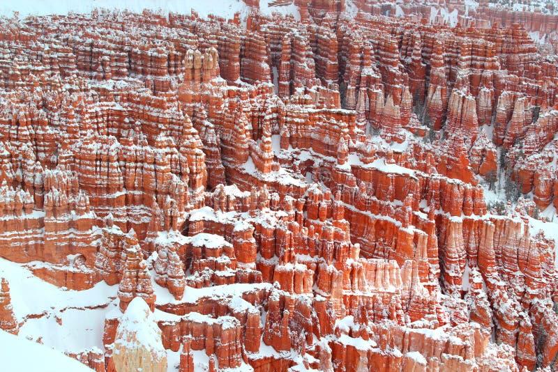Unglücksboten im Winter in Bryce Canyon National Park - Utah - USA stockfotos