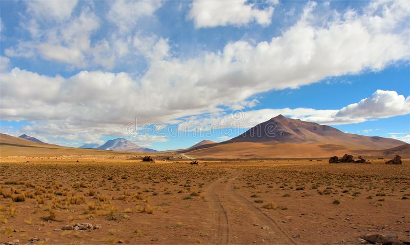 Unglaubliche Wüstenlandschaften in Bolivien lizenzfreies stockfoto