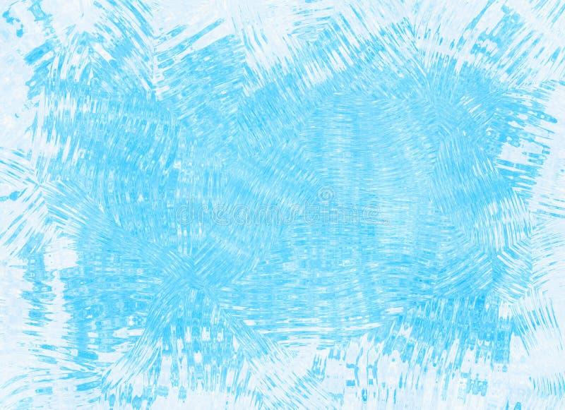 Ungleiche gefrorene Eisblau-Rahmenhintergründe lizenzfreie stockfotografie