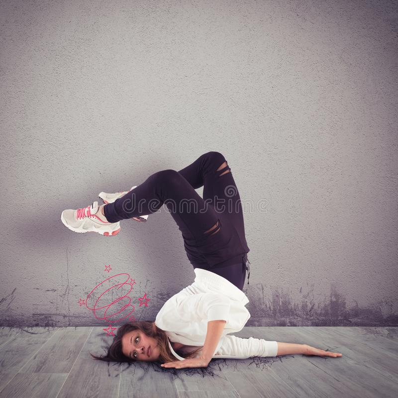 Ungraziöser Tänzer stockfotos