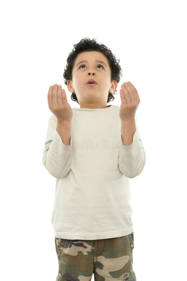 Ungt be för pojke royaltyfria foton