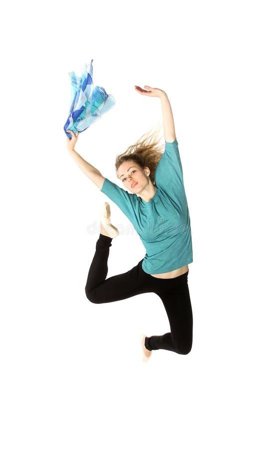 Ungt härligt posera för dansare arkivbilder