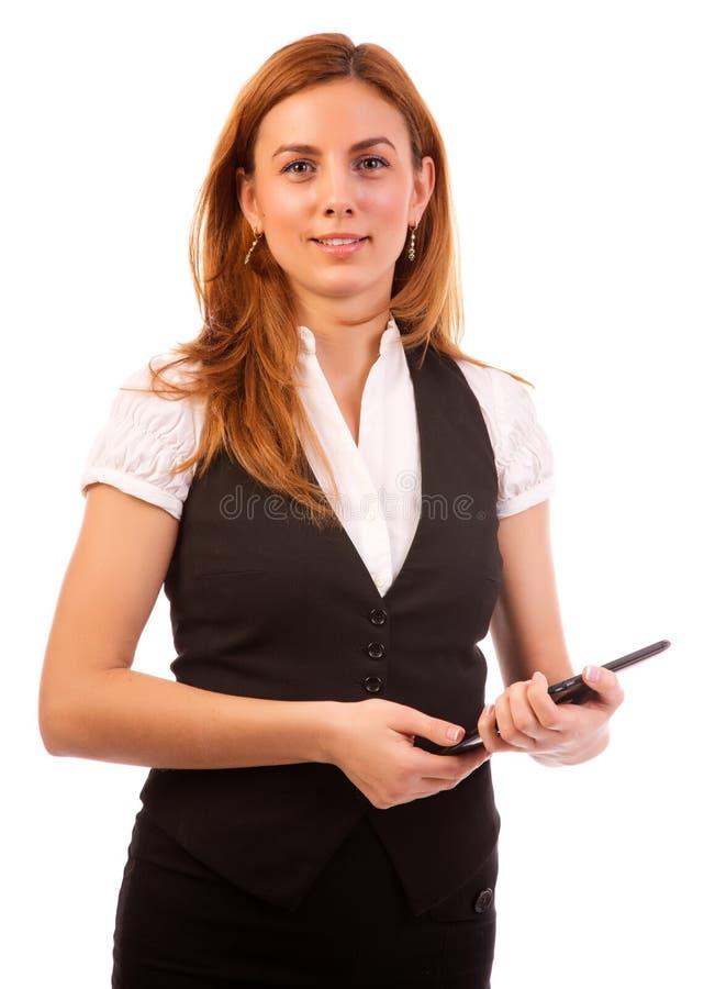 Ungt le för affärskvinna royaltyfri foto
