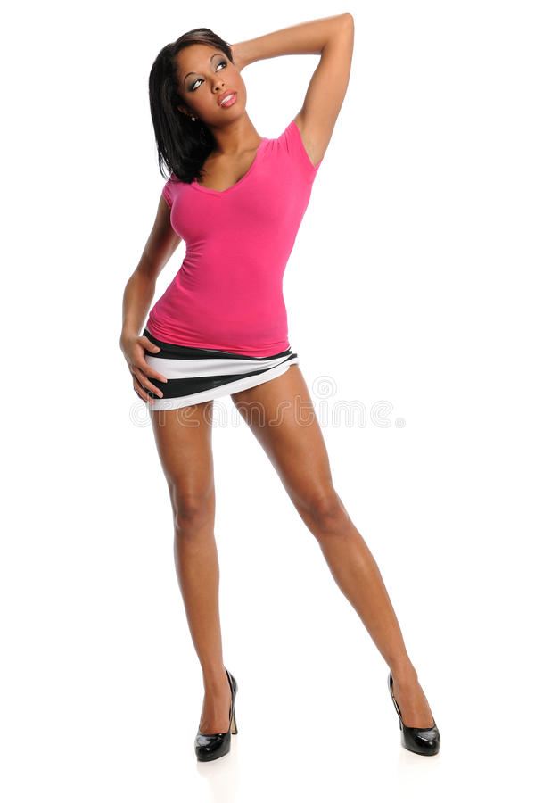 Ungt posera för kvinna arkivfoton