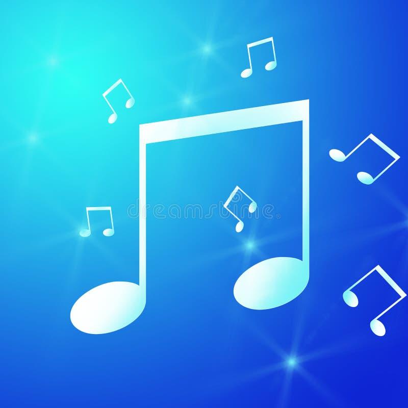 Unha do polegar azul com símbolo de música imagens de stock