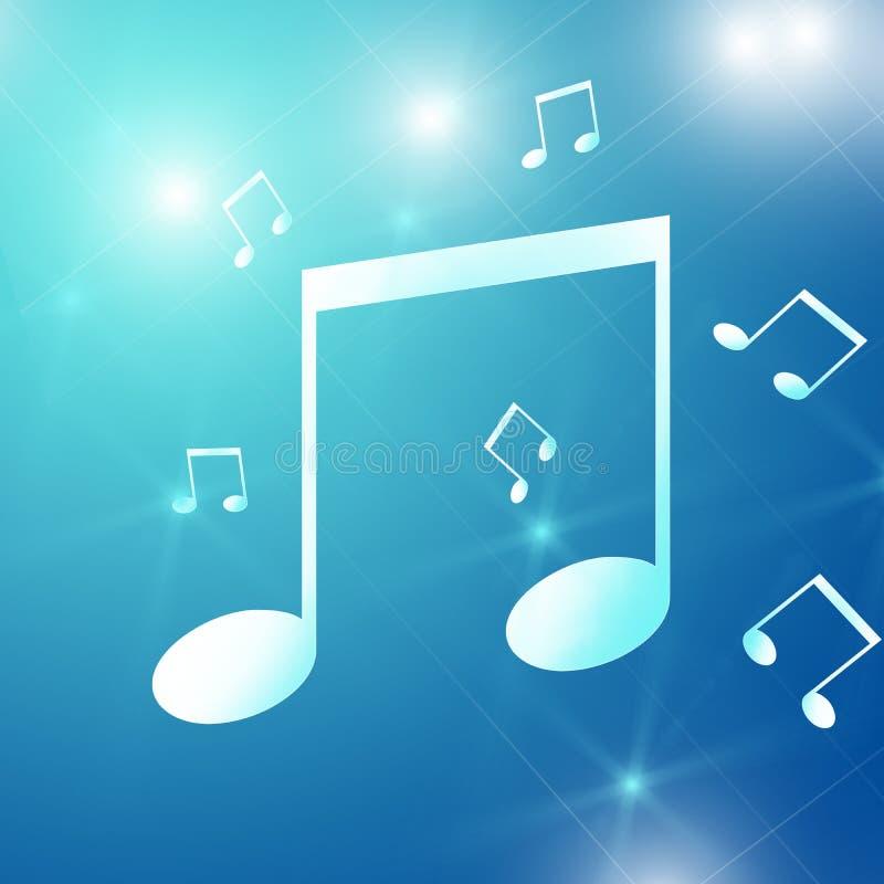 Unha do polegar azul com símbolo de música foto de stock