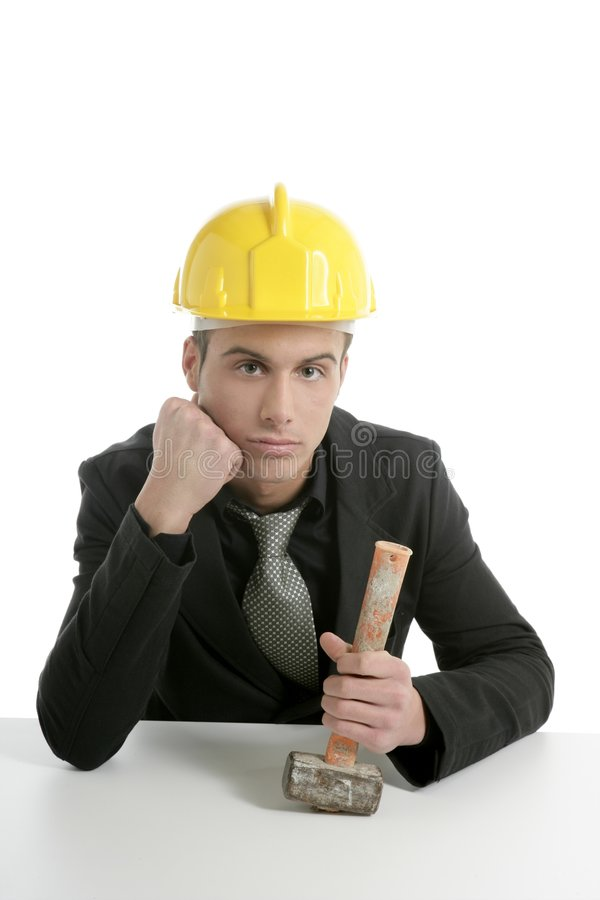 Download Unhappy Architect Engineer That Lost His Work Stock Photo - Image: 8520282