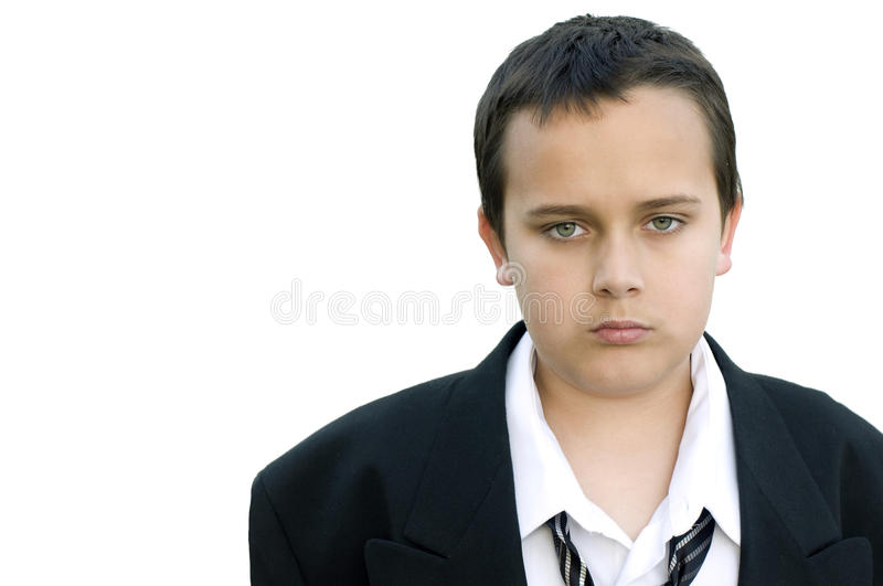 Unhappy Boy in suit 1