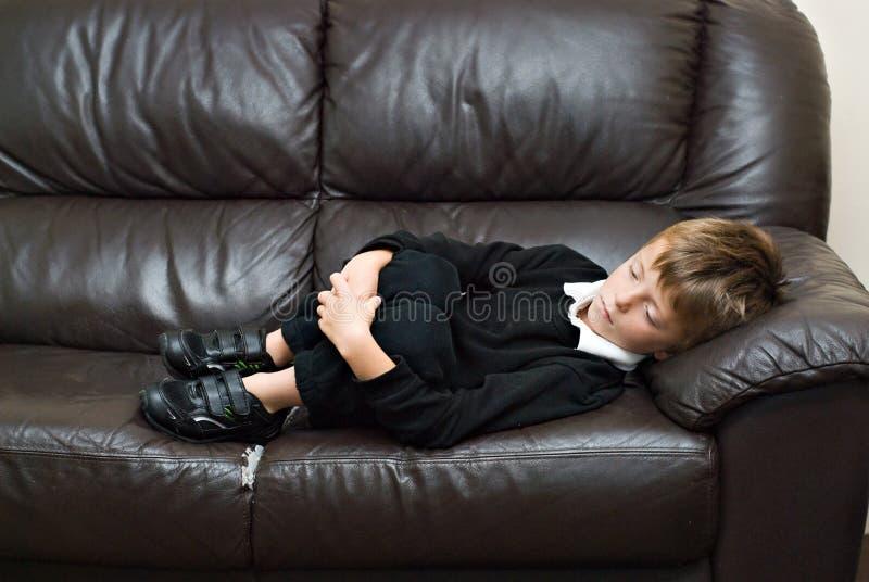 Unhappy child. stock photos