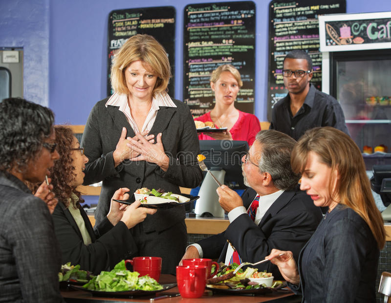 Unhappy Customers with Manager royalty free stock photo