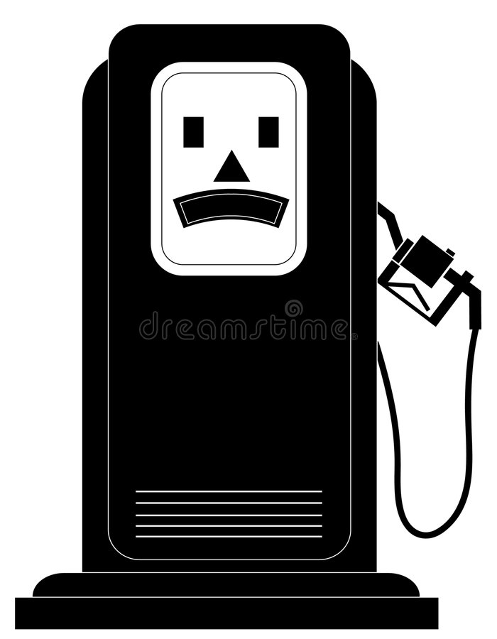 Unhappy Gas Pump Royalty Free Stock Photography
