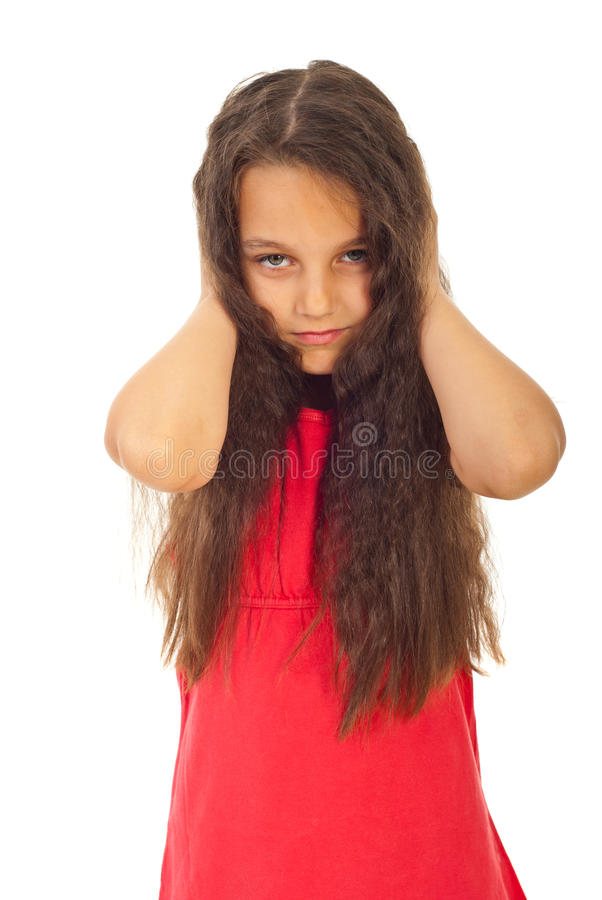 Download Unhappy Girl Covering Ears Royalty Free Stock Photography - Image: 20057907