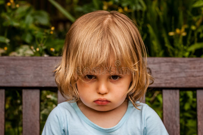 Unhappy girl royalty free stock photography