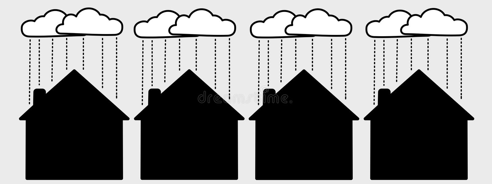 Download Unhappy homes stock illustration. Illustration of background - 7630153