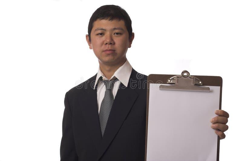 Unhappy inspector stock photos