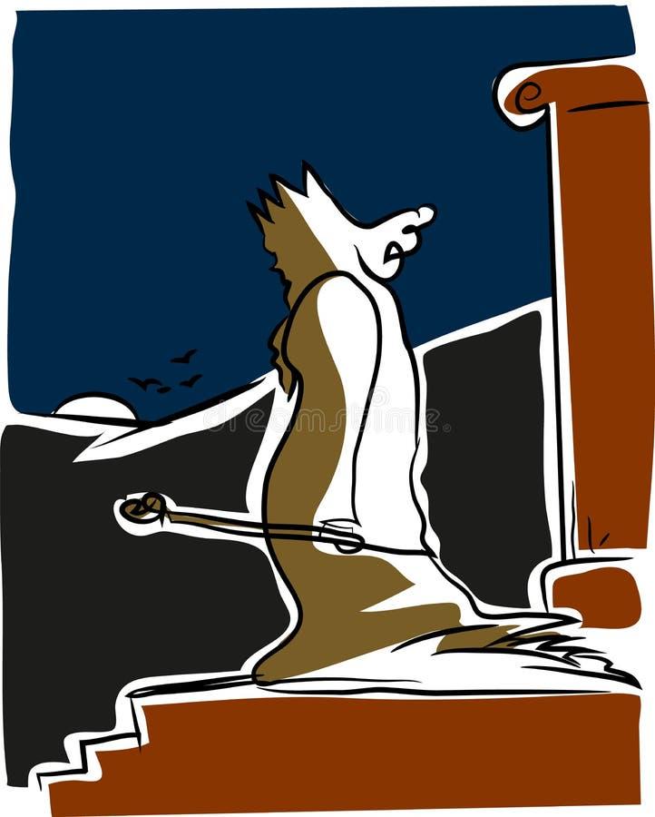 Download Unhappy king stock vector. Illustration of kingnillustartion - 114178515