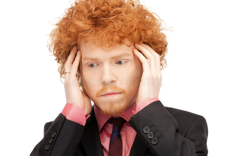 Download Unhappy man stock photo. Image of emotion, handsome, depressed - 19301044