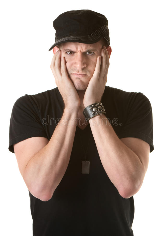 Download Unhappy Man stock image. Image of grumpy, expression - 20828901