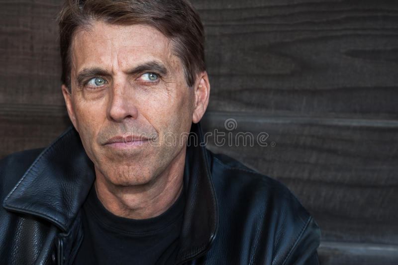 Download Unhappy Man stock photo. Image of jacket, brown, head - 28097196