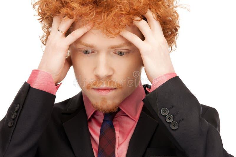 Unhappy Man Stock Photo