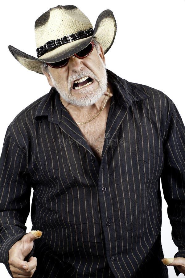 Unhappy older men stock photo