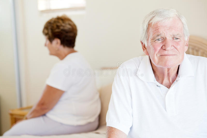 Download Unhappy senior couple stock image. Image of indoor, relationship - 23459223