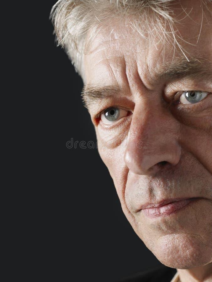Download Unhappy Senior Man Looking Away Stock Photo - Image: 33905200
