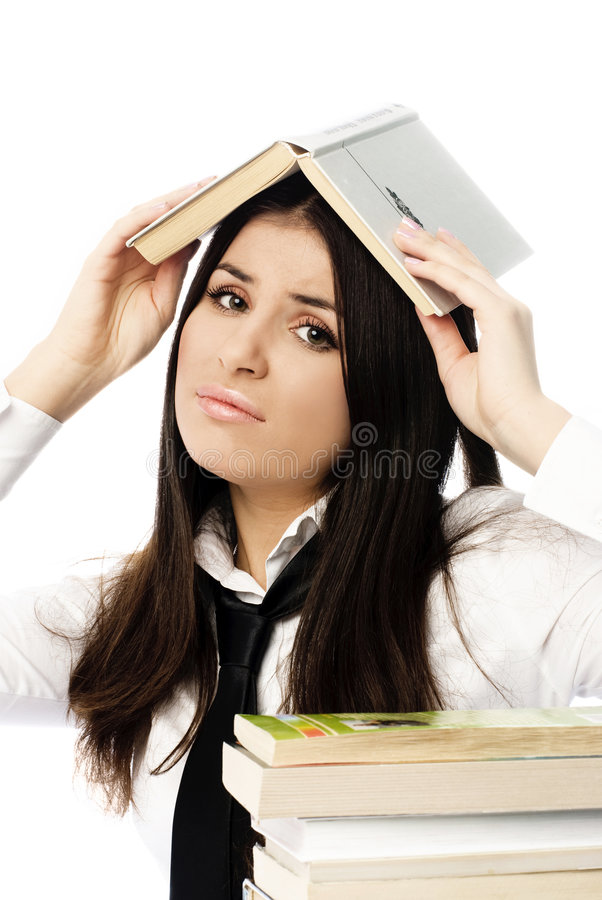 Download Unhappy Student Doing Homework Stock Photo - Image: 7492018