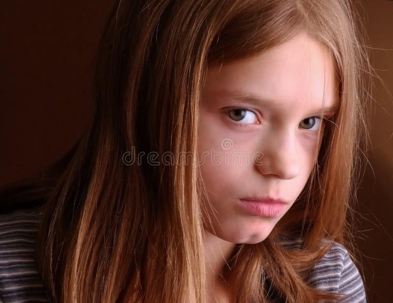 Unhappy teenager royalty free stock photo