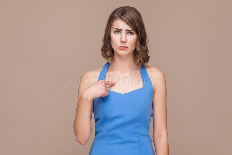 Unhappy woman blame himself and cry royalty free stock photos
