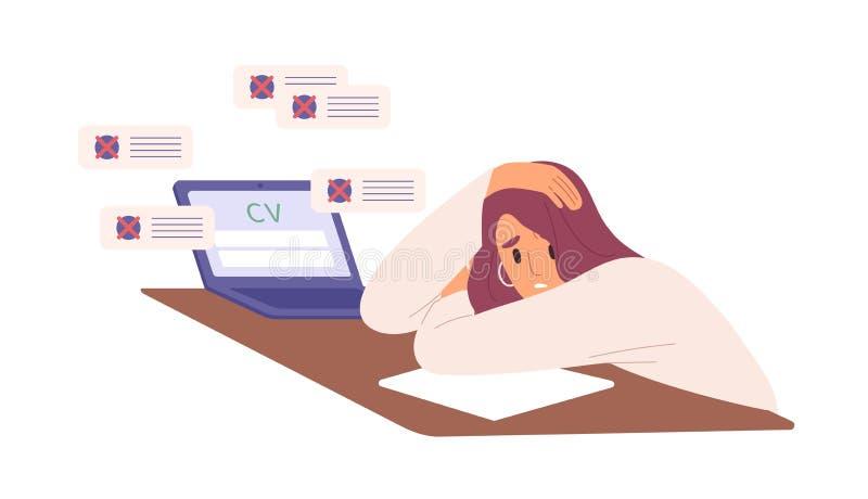 Resume Female Stock Illustrations 957 Resume Female Stock